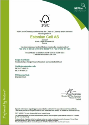 FSC sertifikaat Estonian Cell AS (147,4 KB)