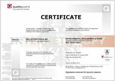 ISO 14001 certificate (442.3 KB)