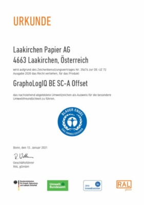 Der Blaue Engel GRAPHOLOGIQ BE (226,2 KB)