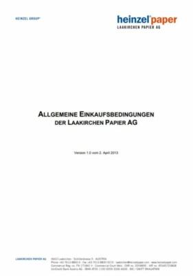Allgemeine Einkaufsbedingungen der Laakirchen Papier AG (219,5 KB)
