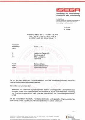 ISEGA Unbedenklichkeitserklärung (780,2 KB)