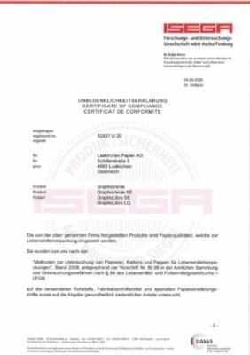 ISEGA Unbedenklichkeitserklärung (624,5 KB)