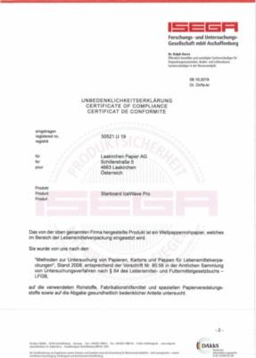 ISEGA Unbedenklichkeitserklärung (785,3 KB)