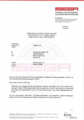 ISEGA Unbedenklichkeitserklärung (610,3 KB)