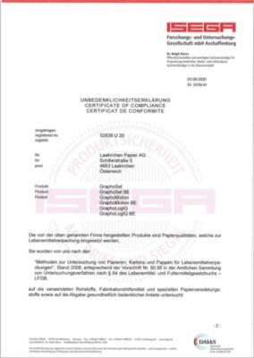 ISEGA Unbedenklichkeitserklärung (625,0 KB)