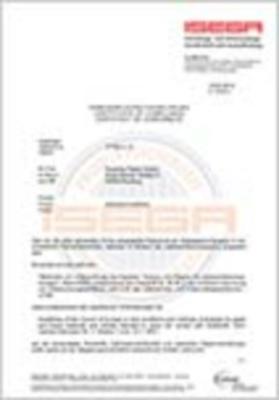 starboard Liner 01 ISEGA Zertifikat (942,3 KB)