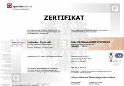 ISO 9001:2015 - Qualitätsmanagement Systems (443,9 KB)