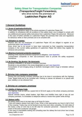 Sicherheitsmerkblatt für Spediteure (38,6 KB)