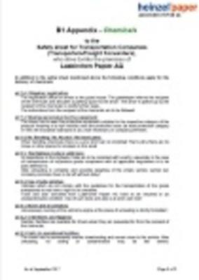 Sicherheitsmerkblatt für Spediteure - Anhang Chemikalien (37,4 KB)